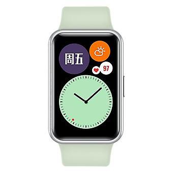 HUAWEI WATCH FIT CONNECTED Watch, حقيبة معدنية، شاشة AMOLED مقاس 1.64 بوصة، عمر البطارية 10 أيام (أخضر)