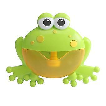 מכונת בועות חיצונית סרטנים &amp צפרדע מוסיקה ילדים אמבטיה צעצוע אמבטיה סבון אוטומטי יצרנית בועה(ירוק)