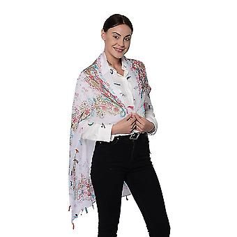 Imprimer l'écharpe viscose pour les femmes Taille 100x95cm Poids 60g