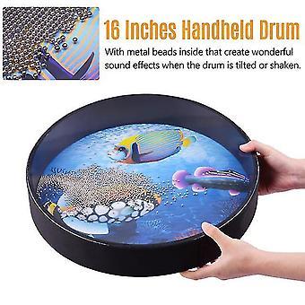 16 pouces tambour océanique en bois portatif sea wave drum percussion instrument doux son de la mer jouet musical