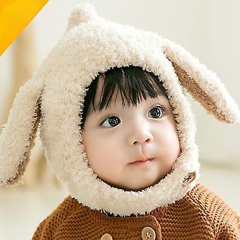 Herbst Winter Baby Jungen Mädchen Hut Plüsch Süße Kaninchen Ohrkappe Kinder Warm Plüsch Solid Cartoon Ohrschutz Warm Hut 0-3y