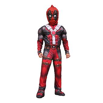 Kinder Jungen Superheld Deadpool Cosplay Kostüm Kostüm Kostüm Party Jumpsuit