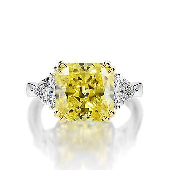 Radiant Zircon Silver Ring For Women