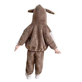 Children Warm Snowsuit Fleece Cute Unisex Hooded Onesies Romper Jumpsuit