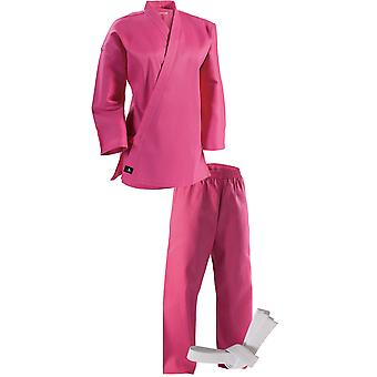Century Kid's 6 oz. Lightweight Student Uniform with Elastic Pants - Pink