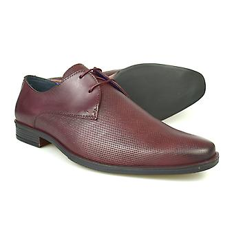 Silver Street London North Mens Burgundy Leather Formal Gibsons