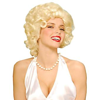 Blonde Bombshell Marilyn Monroe 50s Women Costume Wig
