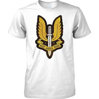 Insignia SAS - que se atreve gana - las fuerzas especiales de Reino Unido - niños T Shirt