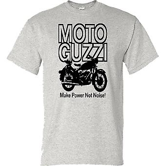 Moto Guzzi machen macht nicht Lärm klassische Motorrad-Biker-Herren-T-Shirt