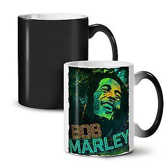 Bob Marley Weed Rasta NEW Black Colour Changing Tea Coffee Ceramic Mug 11 oz | Wellcoda
