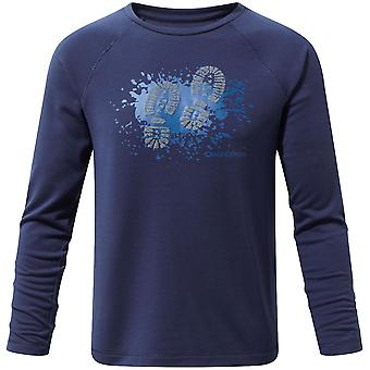 Craghoppers ragazzi & ragazze Mimir manica lunga Poly Graphic t-shirt