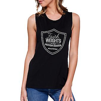 Tro vejer dame sort sød Workout gave Tank Top muskel Shirt