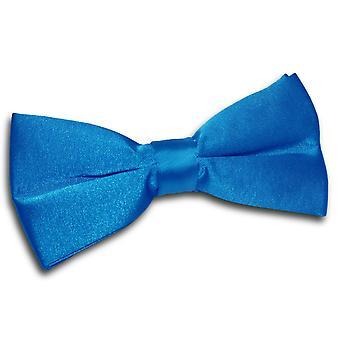Electric Blue planície cetim laço gravata