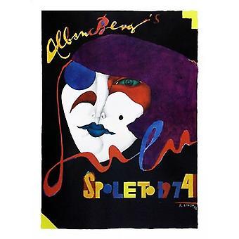 Spoleto 1974 Poster trykk av Richard Lindner (34 x 45)