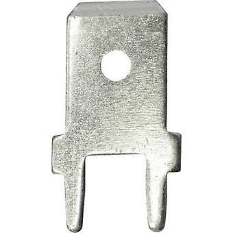 Conector de hoja de 3866a.28 Vogt Verbindungstechnik ancho del conector: 6.3 mm 180 ° no aislada Metal 100 PC