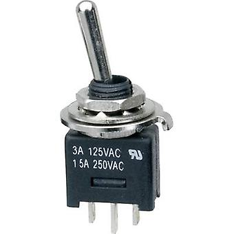 SCI MTE102A1 Toggle switch 250 V AC 3 A 1 x On/On latch 1 pc(s)