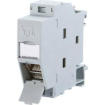 Metz Connect 130B117003-E Network outlet DIN rail CAT 6A Grey-white (RAL 7035)
