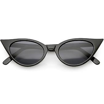 Women's Retro Cat Eye Sunglasses Neutral Colored Oval Lens 48mm
