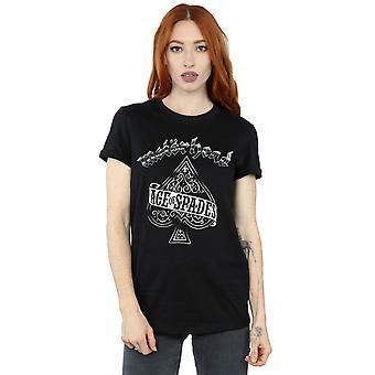 モーター ヘッド女子エース スペードのボーイ フレンド フィット t シャツ