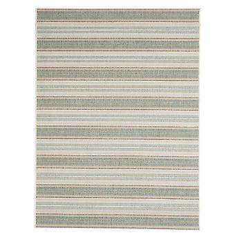 Contemporary Riga green outdoor carpet for Terrace / balcony blue green Aqua 135 / 190 cm carpet indoor / outdoor - for indoors and outdoors