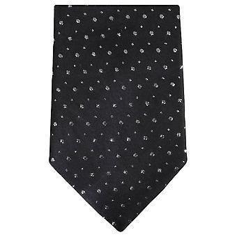 Knightsbridge gravata gravata de Glitter - preto
