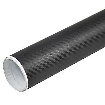 TRIXES 3D Carbon Fibre Vinyl Wrap Car Sticker 1500mm X 300mm