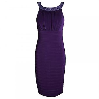 Veromia Occasions Beaded Neck Band Sleeveless Jersey Dress