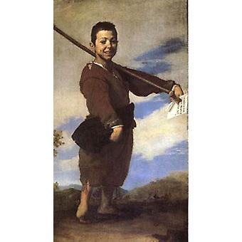 De Beggar bekend als de Club-Foot, Jusepe de Ribera, 80x40cm