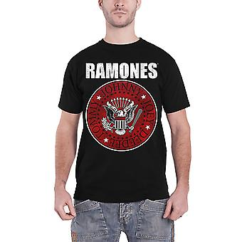 Ramones T Shirt presidential seal Red Fill Band Logo new Official Mens Black
