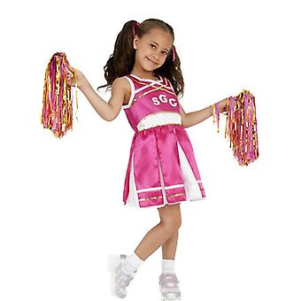 Costume de pom-pom girl, enfant, grand 10-12 ans