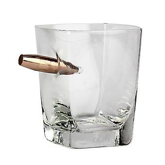 Whiskey glas sidste én stående gennemsigtig, fra glas/metal, i gaveæske.