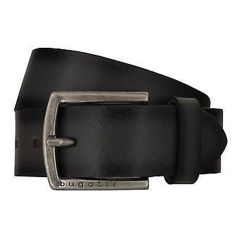 Bugatti belts men's belts leather belt cowhide grey 7768