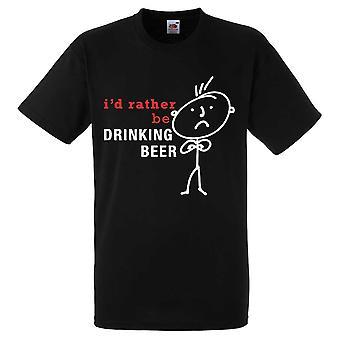 Мужская, я бы скорее быть пить пиво черный тенниска