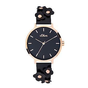 montre montre-bracelet en cuir s.Oliver féminin SO-3700-LQ