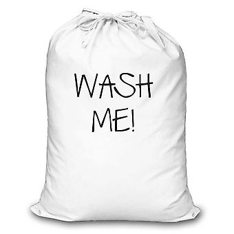 White Laundry Bag Wash Me