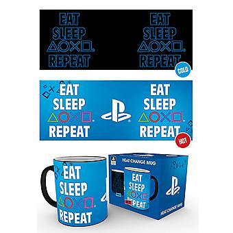 Playstation Essen Schlaf wiederholen Hitze Change Mug