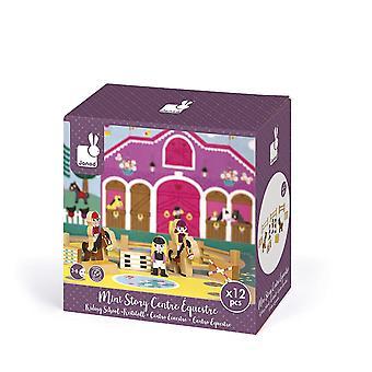 JANOD J08517 mini Story jeu en bois, école d'équitation