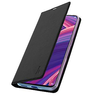 Akashi slim case, flip wallet cover for Oppo RX17 Pro – Black
