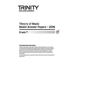 Theory of Music Model Answer Papers 2016 - Grade 7 - 2016 by Theory of