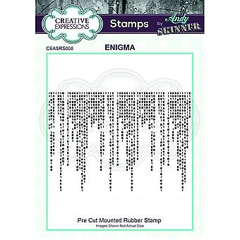 Creative Expressions Andy Skinner Enigma Code Stamp