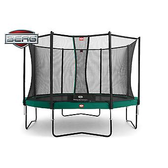 BERG Champion 430 14ft Trampoline + Safety Net Comfort Green