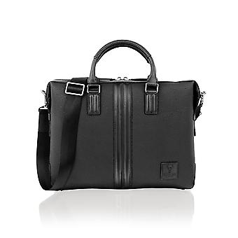 Tote Bag Contrast Leather 14.0
