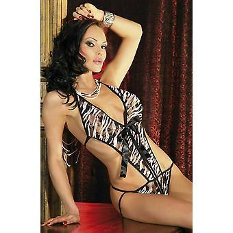 Passion Lingerie Kaja Camouflage Open Crotch Body