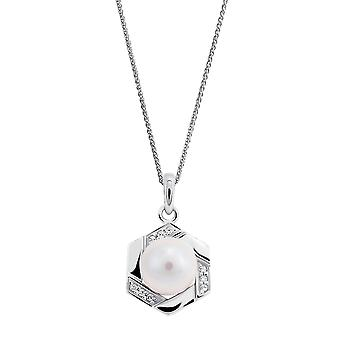 Orphelia 925 Silver Pendant with Chain with Freshwater Pearl and Zirconium