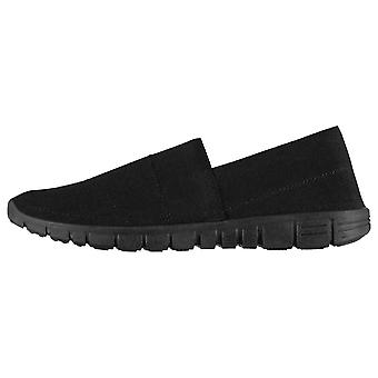 Fabric Womens Ladies Mercy Slip On Trainers Shoes Pumps Sneakers