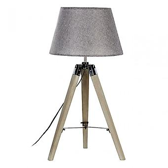 Premier Home Harper bordslampa, tyg + PVC, trä, grå