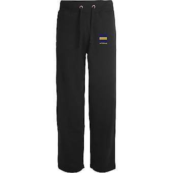 Prince of Wales Own Regiment Of Yorkshire PWRR TRF - Vétéran - Licensed British Army Embroidered Open Hem Sweatpants / Jogging Bottoms