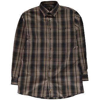 Fusion Mens Check Shirt Long Sleeve Top