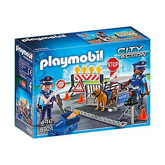 Playmobil 6924 City Action Police Roadblock Playset