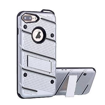 iPhone 8 Plus و 7 زائد فضة القضية - حالة درع